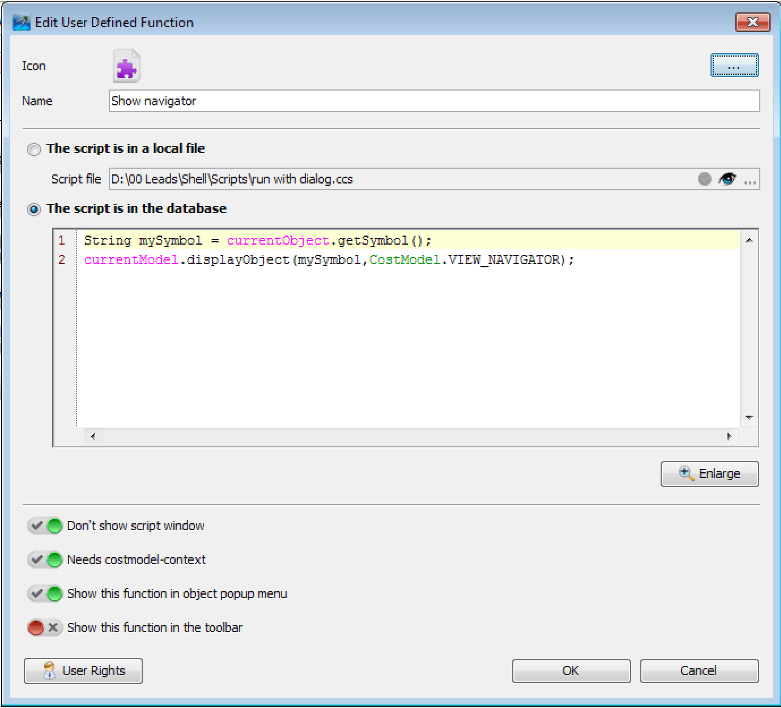CostPerform User Defined Functions