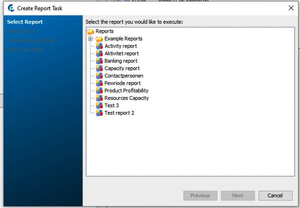 CostPerform version 2020.2 report task